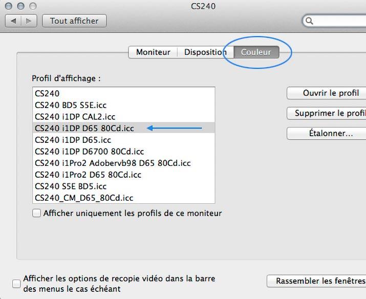 Calibrage couleur ecran mac for Ecran pc choisir
